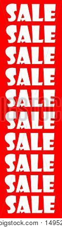 Abstract Creative Red & White Business Sale Sign Scene