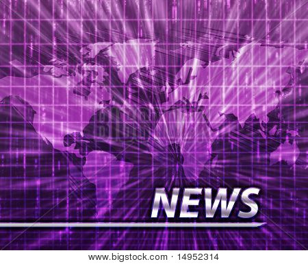 Latest breaking news newsflash splash screen announcement illustration