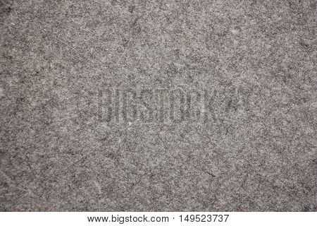 The texture of gray felt for background