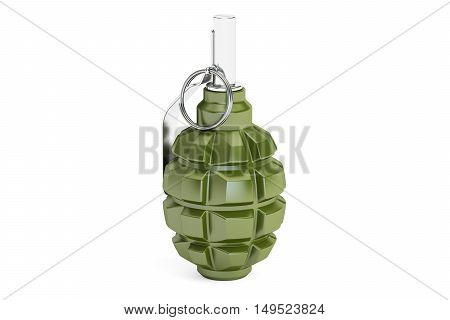 hand grenade 3D rendering on white background