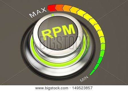 high level of RPM concept 3D rendering