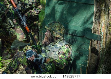 Soldier Has A Rest