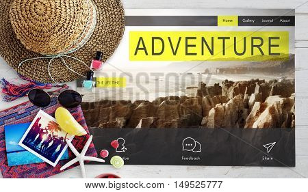 Travel Navigation Journey Vacation Trip Concept