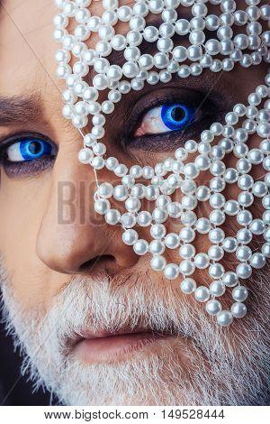 Man With Gem Mask