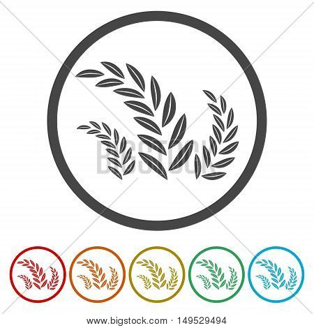 Wheat Ears Icons and Logo Set on white background