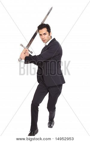 Businessman With A Sword