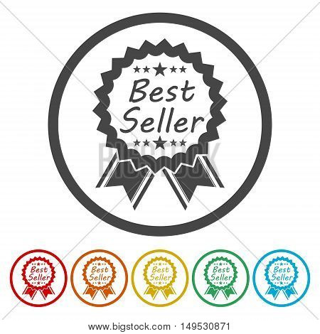 Best seller. Set, collection, group of simple, isolated