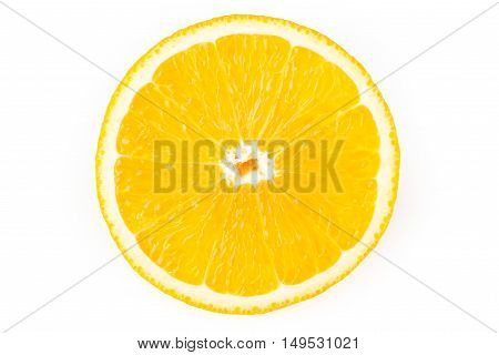 Cutout of a single  slice of lemon