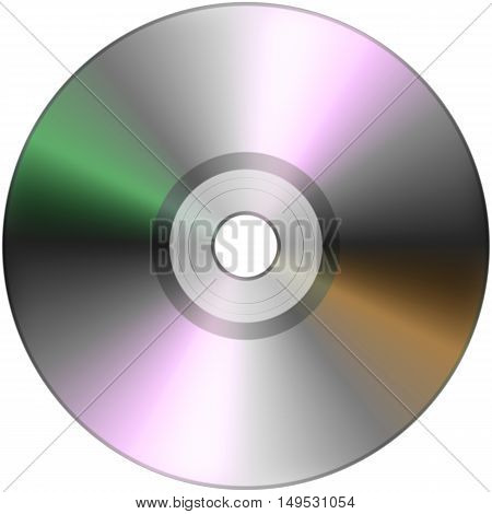 CD dvd disk isolated on White background