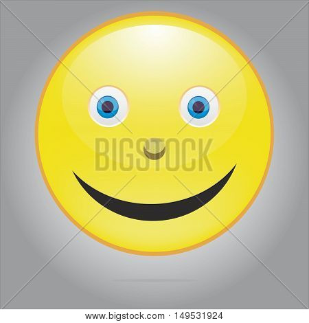 Yellow Smile icon for web and mobile