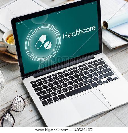 Drugs Medicine Healthcare Treatment Graphic Concept