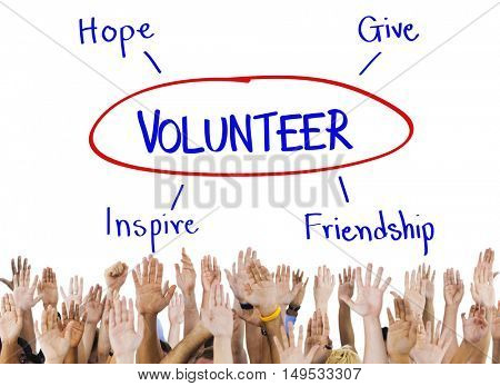 Volunteer Support Care Assistance Help Concept