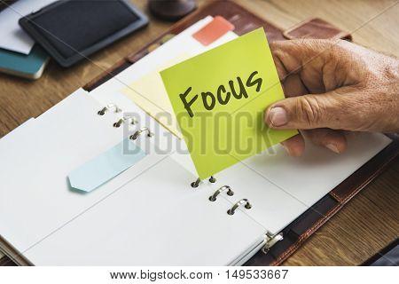 Focus Weekly Planner Organizer Concept