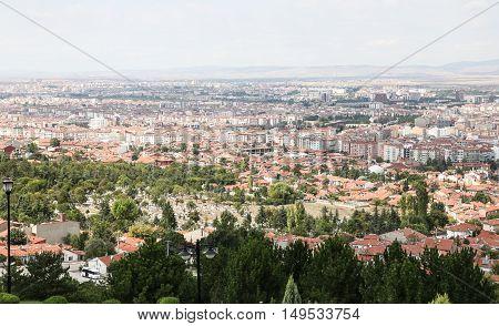 Aerial Townscape of Eskisehir City in Turkey