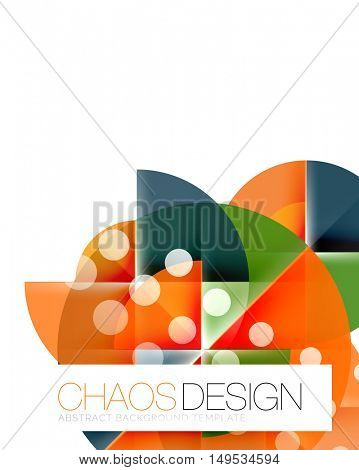 Dotted circles, abstract vector background