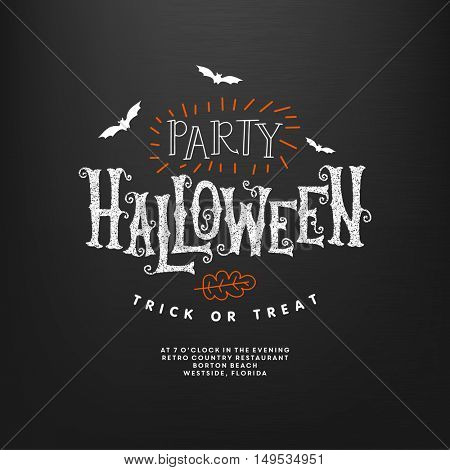 Happy Halloween lettering. Vector illustration.
