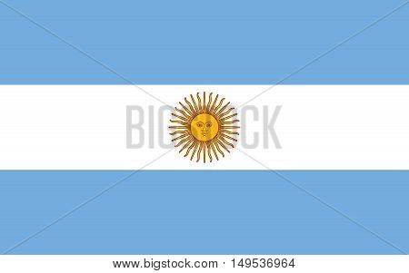 Flag Of Argentina Horizontal