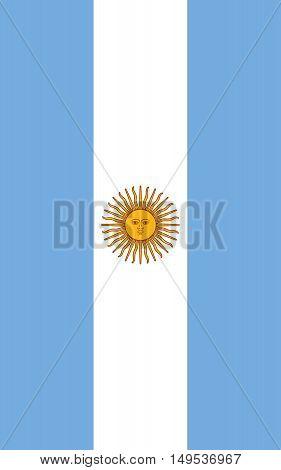 Flag Of Argentina Vertical