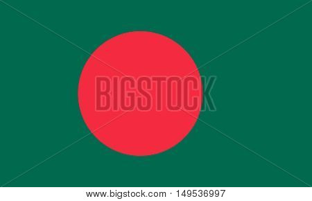 Flag Of Bangladesh Horizontal