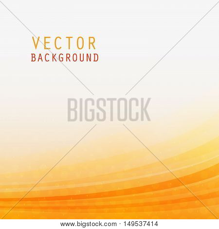 Abstract orange vector line background for design.