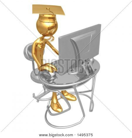 Gouden Grad Online onderwijs afstuderen Concept