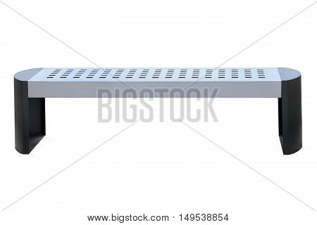 image of outdoor bench isolated on white background