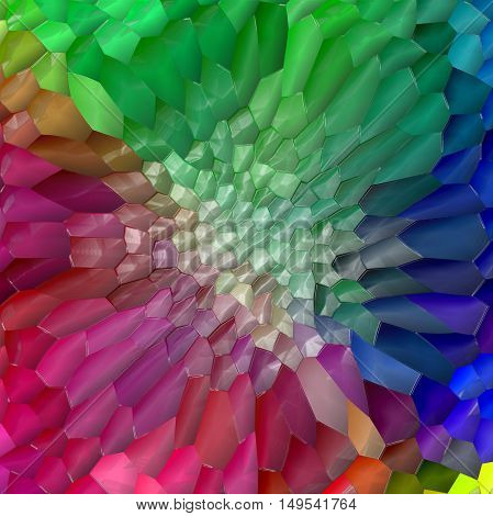 Abstract coloring background of the pastels gradient with visual pinch, mosaic and plastic wrap effects.Good for your project design