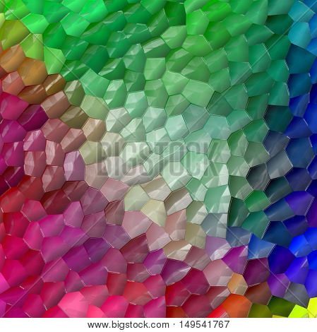 Abstract coloring background of the pastels gradient with visual mosaic and plastic wrap effects.Good for your project design