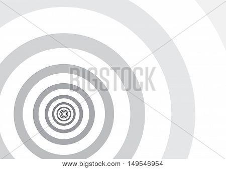 Background - Fibonacci circles - black and white monochrome grayscale - vector illustration