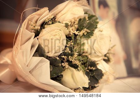 Wedding bouquet for bride in special day.