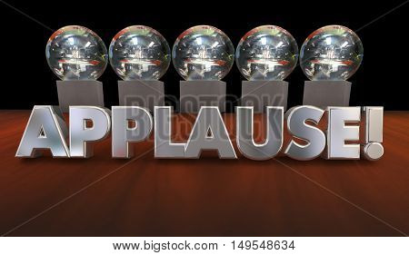 Applause Kudos Recognition Great Job Awards 3d Illustration