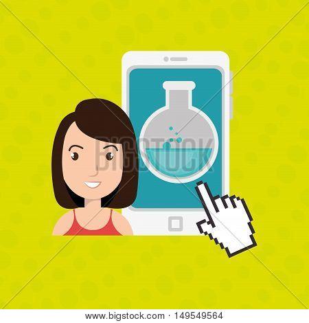 woman thinking creating bubble vector illustration eps 10