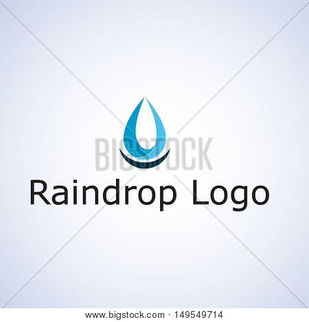 raindrop logo ideas design vector illustration on background