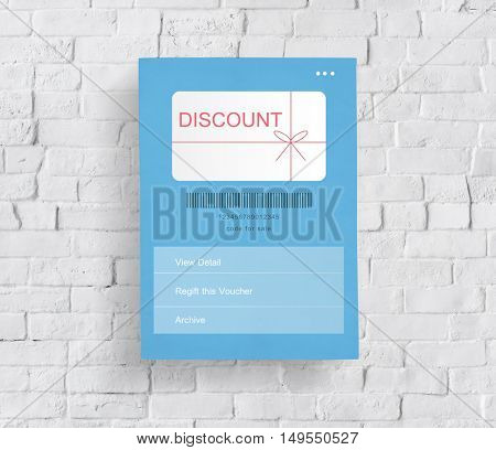 Discount Coupon Gift Certificate Shopping Concept