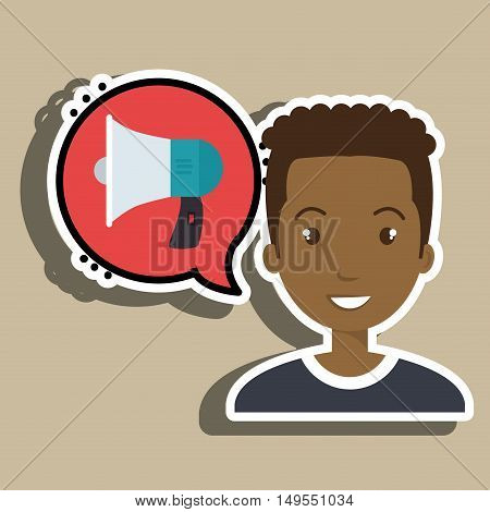 man thinking creating bubble vector illustration eps 10