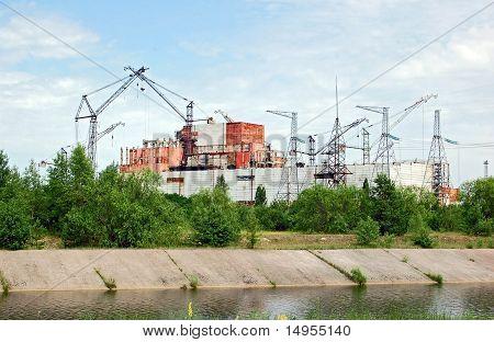 Chernobyl atomic power station, abandoned 5-6 reactor