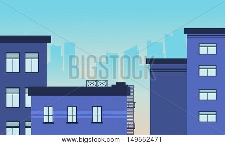 Illustration of city building skyline vector art