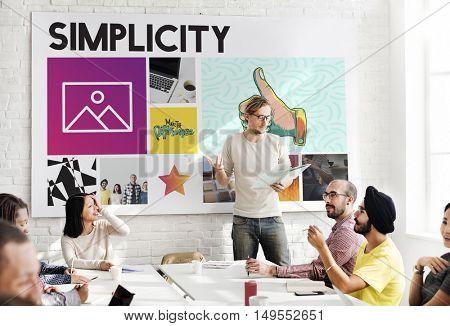 Group Presentation Diversity Leadership Concept