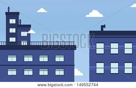 City landscape skyline of vector illustration collection