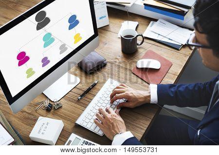 Analyze Chart Information Management Strategy Concept