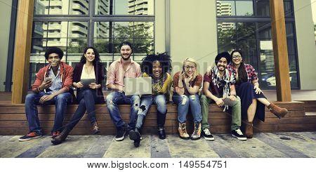 College Students Teamwork Brainstorming Concept