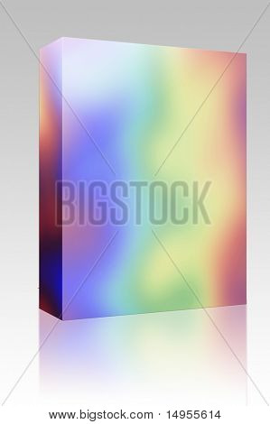 Software package box Abstract rainbow pattern, with psychadelic random colors