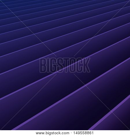 Abstract Colourful Purple Blue Gradient Lines Background 3D Illustration