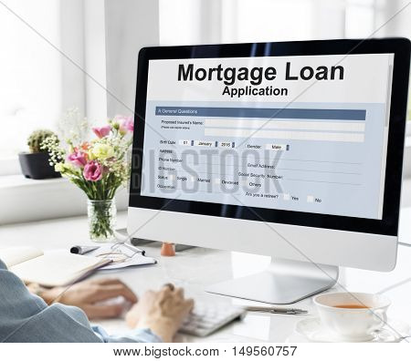 Mortgage Loan Application Form Concept