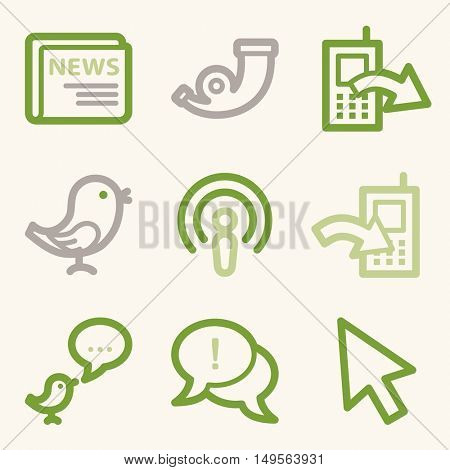 Internet web icons set. Service mobile symbols.