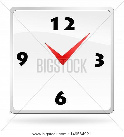 Button abstract clock, illustration on white background
