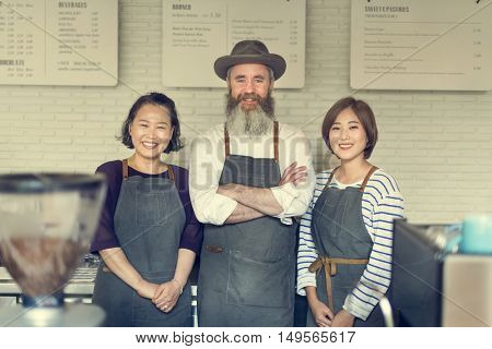Apron Barista Coffee Cafe Concept