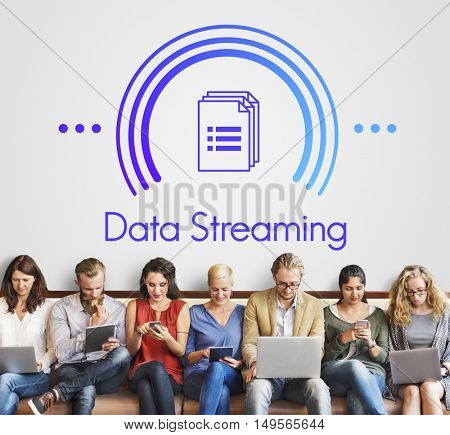 Data Streaming Connection Computer Technology Concept