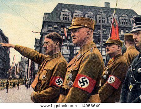 Hitler, Himmer, Roehm em Leipzig