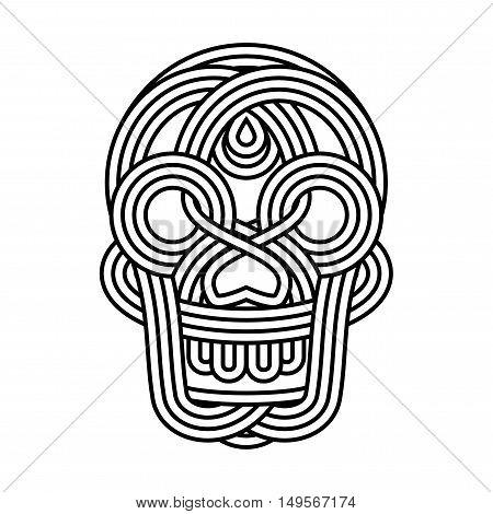 Parallel Lines Skull Symbol On White Background